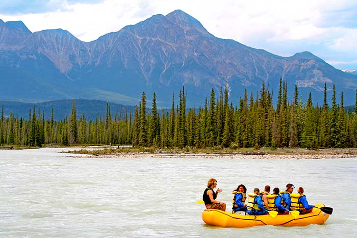 Rafting on Backroads Canadian Rockies Multisport Adventure Tour