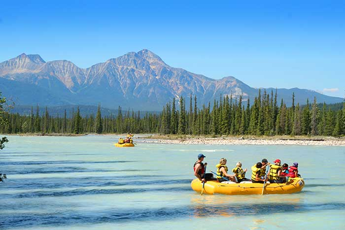 Rafting on Backroads Canadian Rockies Family Multisport Adventure Tour