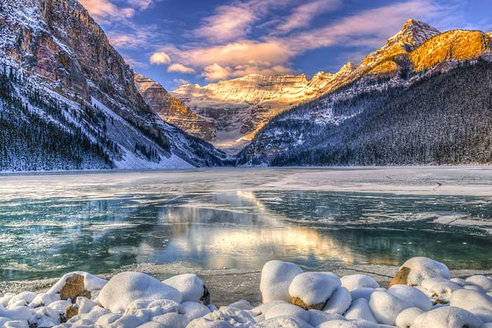 Lake Louise in Winter, Banff NP, Canadian Rockies