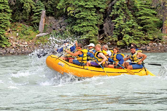 Whitewater Rafting, Canadian Rockies