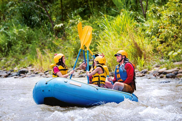 Family whitewater rafting in Costa Rica