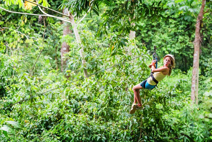 family ziplining in Costa Rica