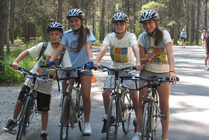 Family biking - Glacier & Waterton Lakes Family Multi-Adventure Camping Tour