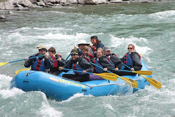 Rafting- Backroads Glacier & Waterton Lakes Family Multisport Adventure Tour