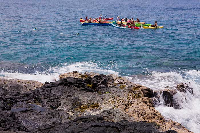 Kayaking on Backroads Hawaii's Big Island Family Multi-Adventure Tour
