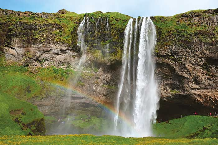 Waterfall on Backroads Iceland Multi-Adventure Tour