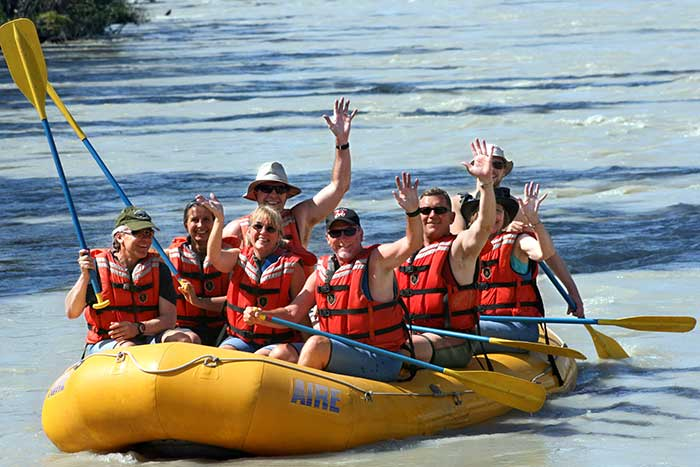Rafting on Backroads Canadian Rockies Family Breakaway Multisport Adventure Tour