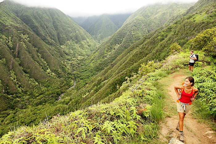 Hiking in Maui, Hawaii