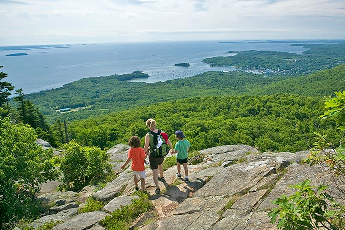 Acadia National Park hiking - Maine Family Multi-Adventure Tour