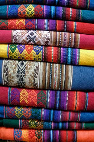 Peruvean blankets - Peru Walking & Hiking Tour