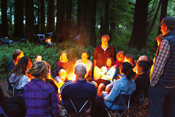 Campfire - Redwoods Family Hiking Trips