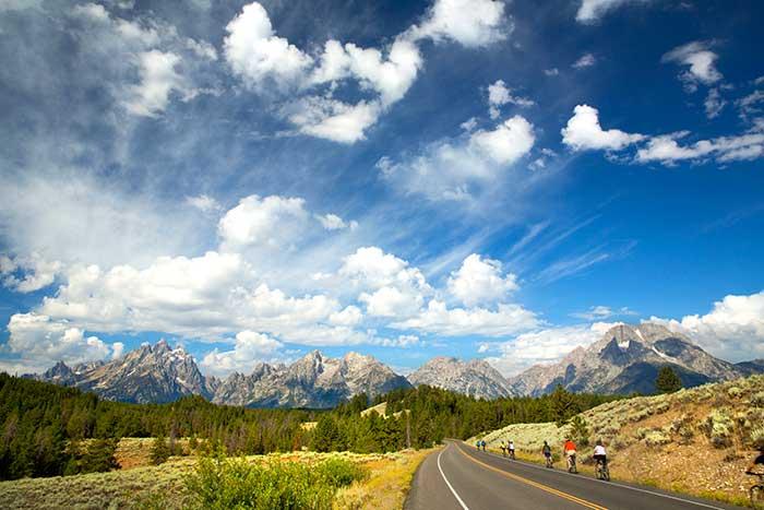 Biking in Grand Teton National Park, Wyoming