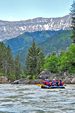 Rafting on Backroads Yellowstone & Tetons Family Breakaway Multisport Adventure Tour