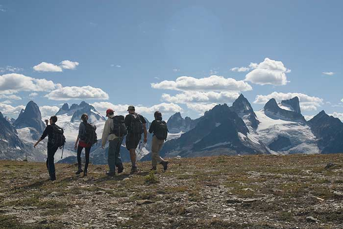 Helicopter on Backroads Canadian Rockies Family Breakaway Heli-Hiking Tour