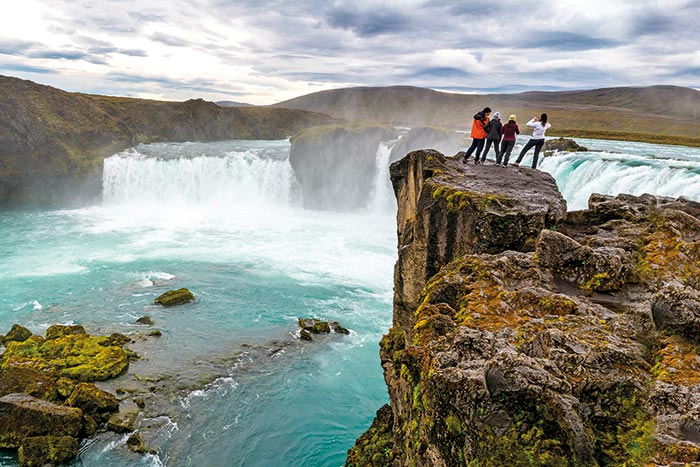 Waterfall - Iceland Ocean Cruise Walking & Hiking Tour
