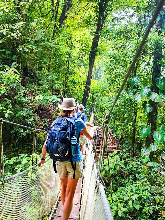 Hanging Bridges Hike Costa Rica Family Multisport Adventure Tour