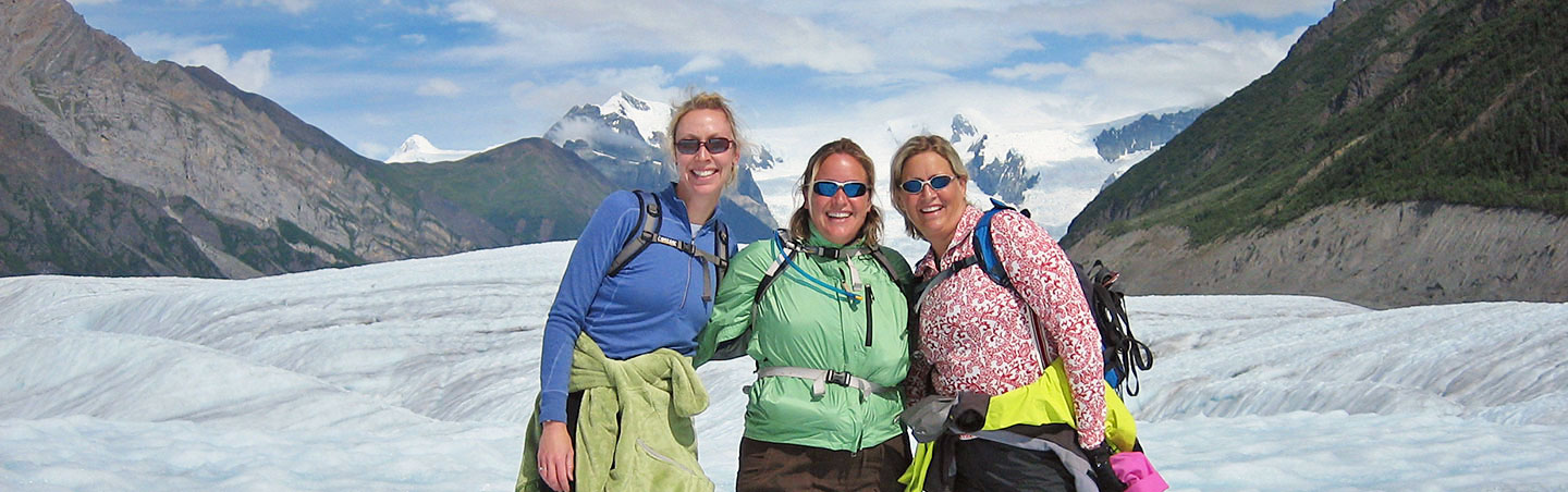 Hiking on a glacier - Alaska Family Multi-Adventure Tour