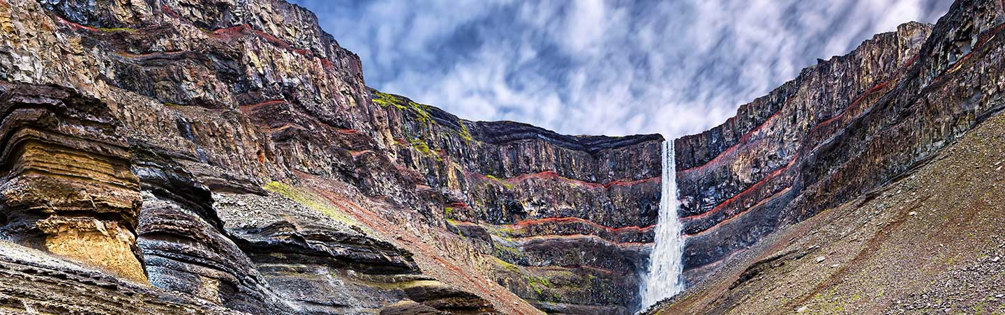 Hengifoss Waterfall - Eastern Fjords of Iceland