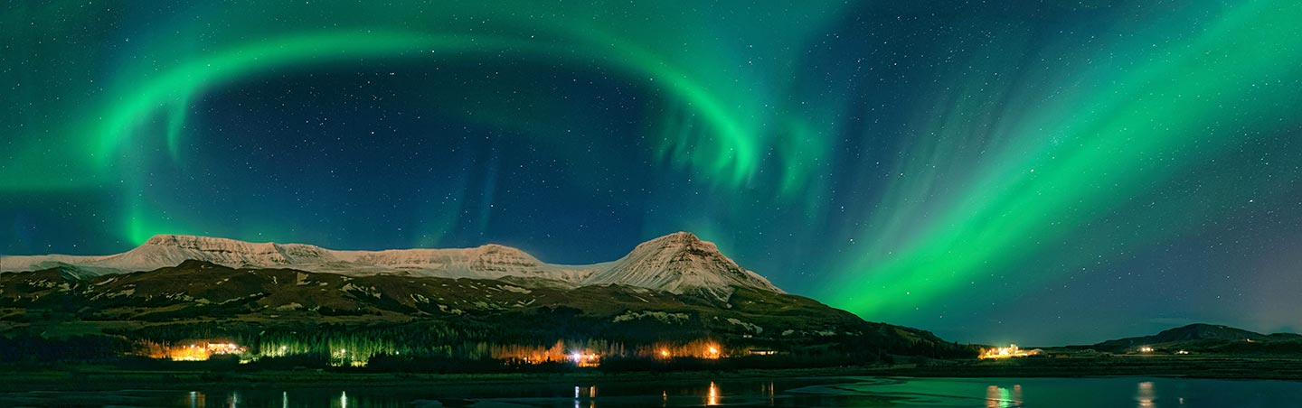 Northern Lights on Backroads Iceland Northern Lights Multi-Adventure Tour