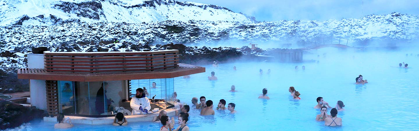 Geothermal spa on Backroads Iceland Northern Lights Multi-Adventure Tour