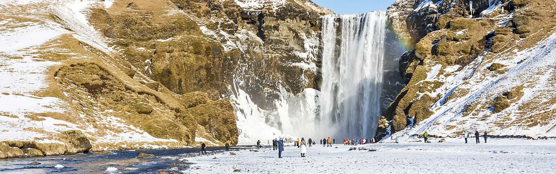 Skogafoss Waterfall - Iceland Winter Snow Adventure Tour