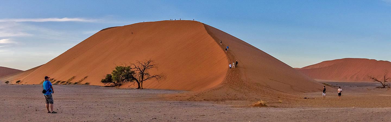 Walking on sand dunes in Namibia - Namibia & Zimbabwe Safari Walking Tour