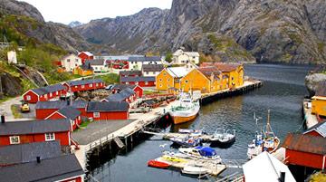 Nusfjord Rorbuer, Lofoten Islands, Norway