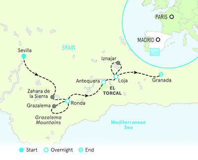 Andalucia Bike Tour map