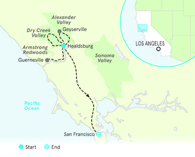 Alexander Valley California Map
