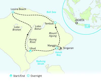 Bali Biking Map