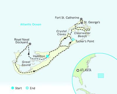 Bermuda bike tour map