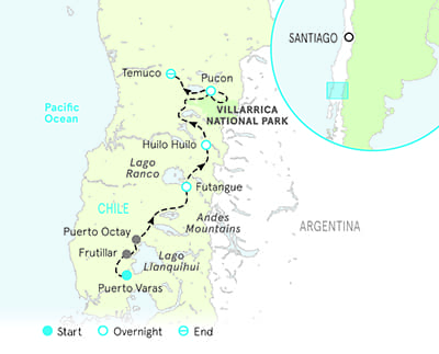 Chile Bike Tour Map