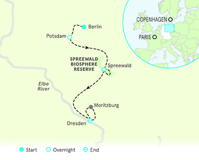 Berlin Map Of Germany.Berlin To Dresden Bike Tours Berlin Bike Tour Backroads