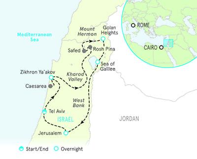 Israel Biking map
