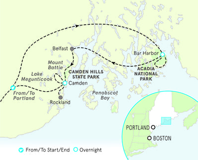 Maine Biking Map