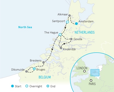 Holland & Belgium Biking Map
