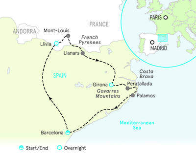 Spain Biking Map