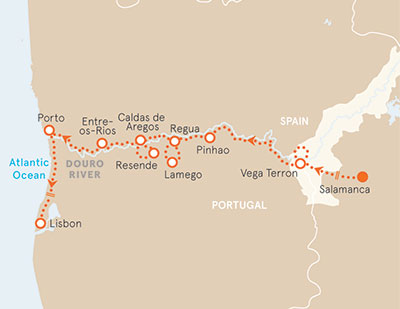 Douro River Cruise Bike Tour Map