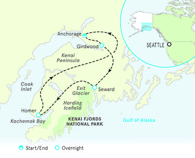 Bluff Alaska Map.Alaska Adventure Tours Alaska Bicycle Tours Adventure Travel