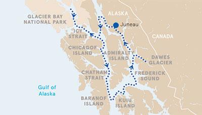 Alaska Cruise Map