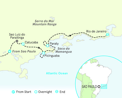 Brazil Multisport Tour Map