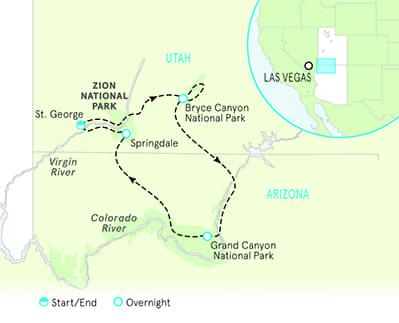 Bryce Zion Utah Map