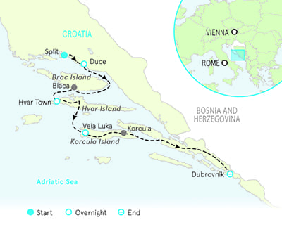 Croatia Multiadventure Map
