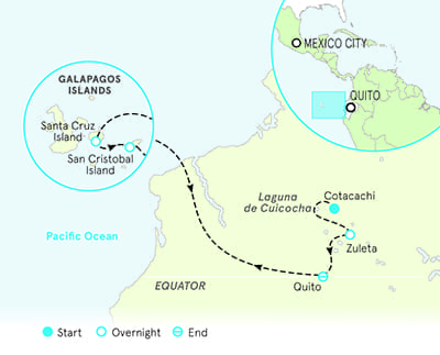 Ecuador and Galapagos Multisport Map