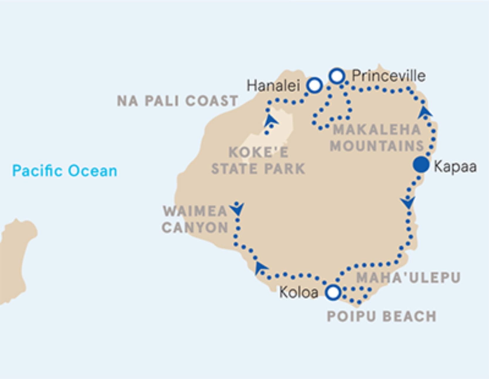 Kauai Family Multi-Adventure Tour – Older Teens & 20s | Map