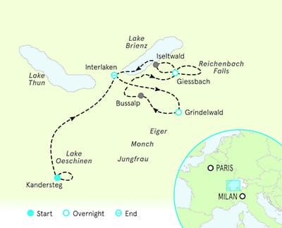 Switzerland Tour Map