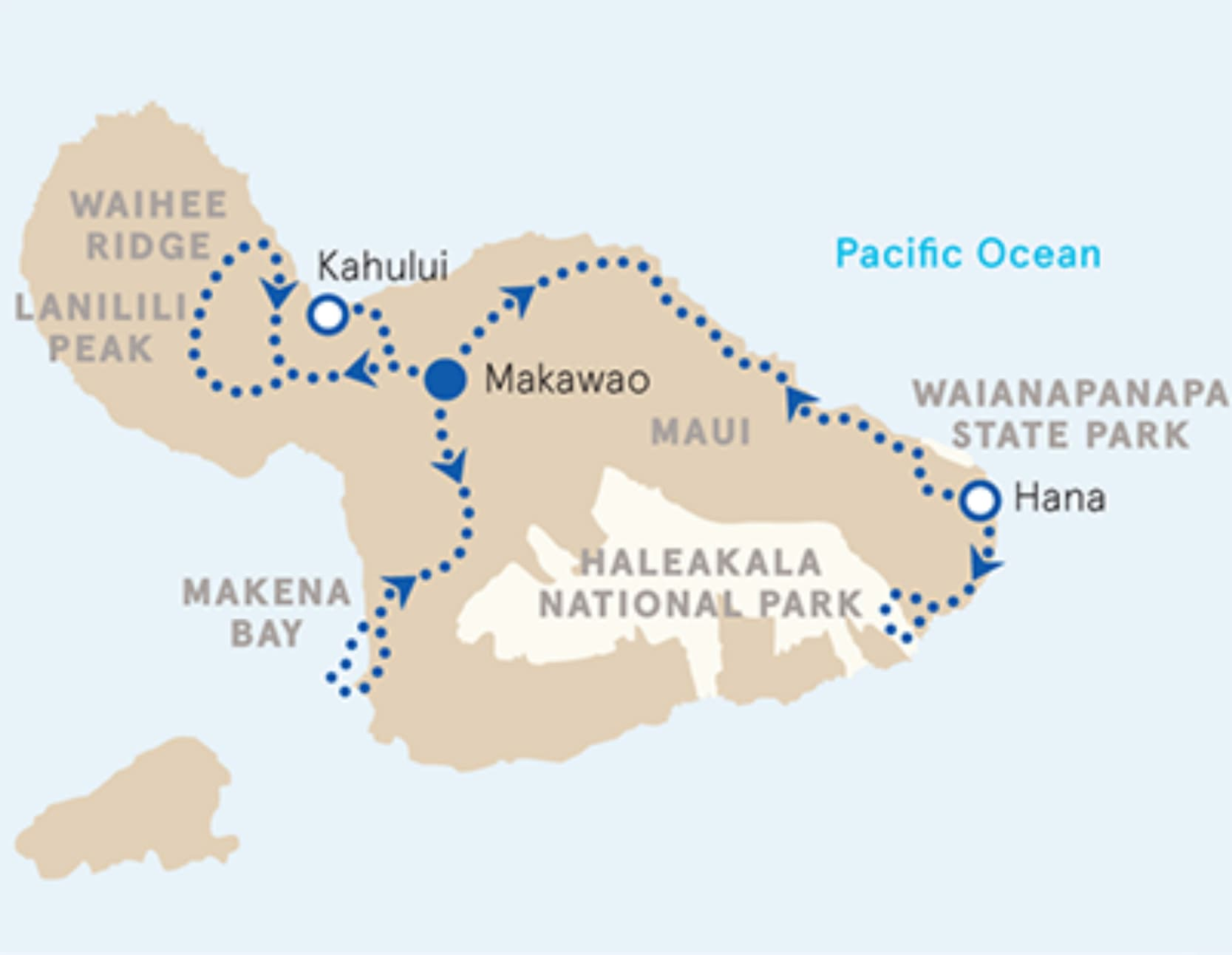 Maui Family Multi-Adventure Tour – Older Teens & 20s | Map