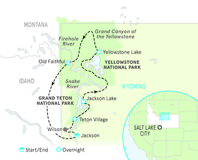 Yellowstone & Grand Teton Map