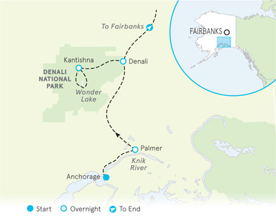 Alaska Walking tour map