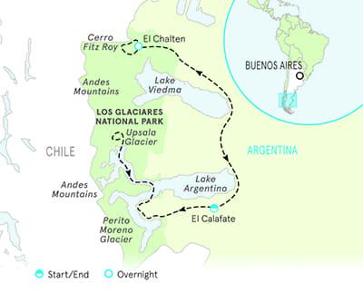 Argentina Patagonia Map